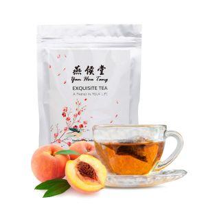 Organic Peach Green Tea Bags Herbal Full Loose Leaf Spice Flesh Fruit and Flower Tea Drink