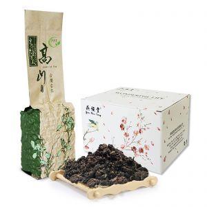 Organic Taiwan Aged Ginseng Black Oolong Loose Leaf High Mountain Deep Ferment - Honey Coffee
